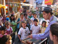 Comedy Magician Jersey Jim street performs
