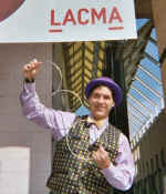 Magician Jersey Jim at LACMA.
