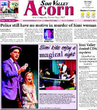 Magician Jersey Jim in the Acorn Front Page