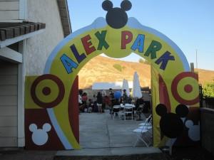 Archway to Alex's Birthday Party