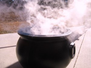 Dry Ice Brings The Cauldrons to Life