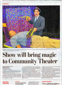 Master Magician Jersey Jim in the newspaper