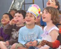 Preschool Kids Laughing at Jersey Jim's magic show