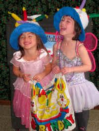 laughing birthday girls at Jersey Jim Magic Show